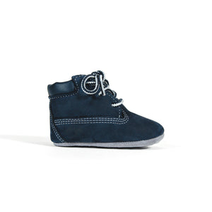 Timberland Crib Bootie with Hat - Navy Image 1