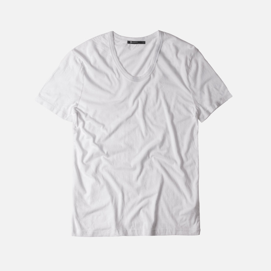 T by Alexander Classic Low Neck Tee - White