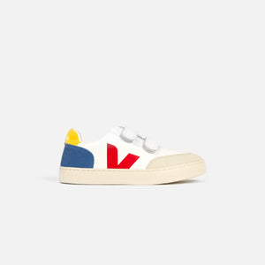 Veja Pre-School V-12 Leather - Extra White / Multicolor / Indigo Image 1
