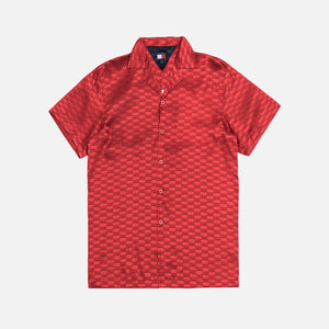 Kith x Tommy Hilfiger Satin Camp Shirt - Red