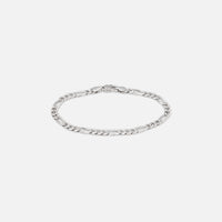 Tom Wood Figaro Bracelet Thick 8.3 inches - Silver Thumbnail 1