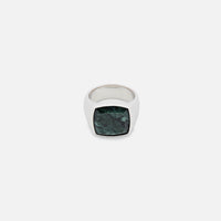 Tom Wood Cushion Ring - Green Marble Thumbnail 1
