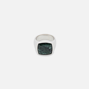 Tom Wood Cushion Ring - Green Marble