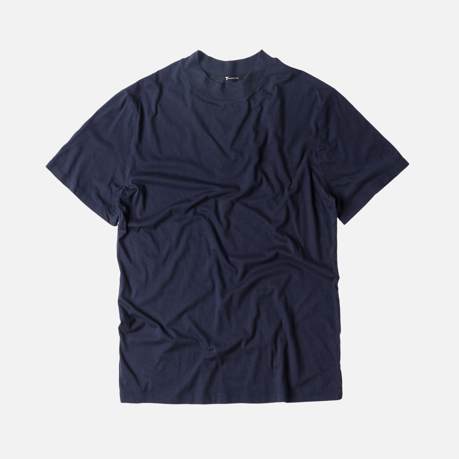 T by Alexander S/S High Crewneck Tee - Officer Blue