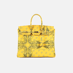 The World Is Yours Paisley Travel Bag 50 - Yellow / Silver