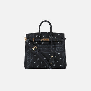 The World Is Yours Paisley Mini Bag 28 - Black w Silver