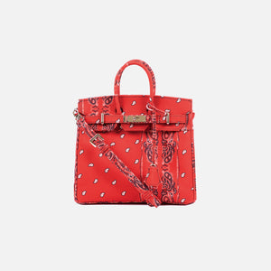 The World Is Yours Paisley Mini Bag 28 - Red w Gold