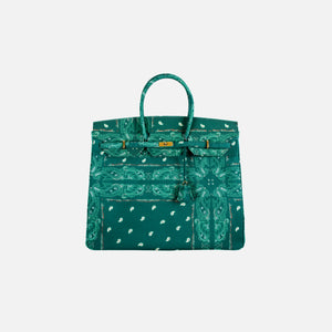 The World Is Yours Paisley Travel Bag 50 - Green w Gold