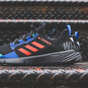 adidas Consortium x White Mountaineering Agravic Speed + - Core Black / Active Orange Image 4