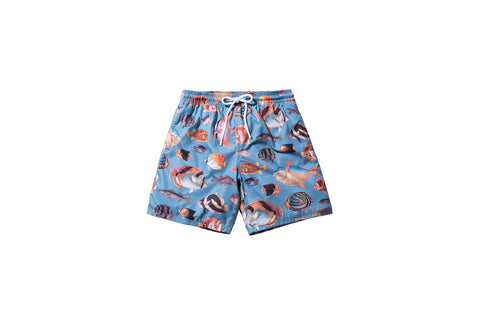 Kith Tilden Aquarium Swim Trunk - Slate