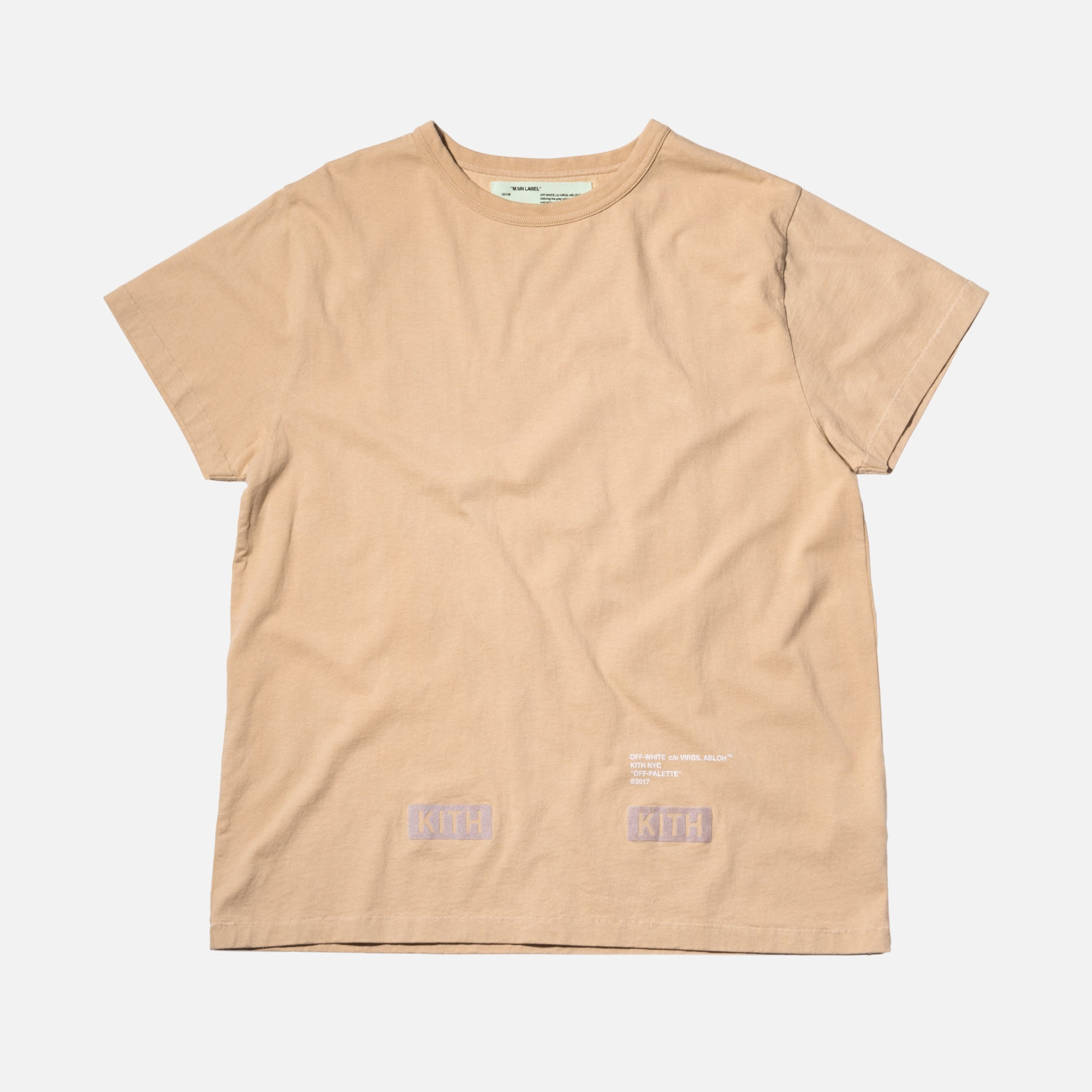 Kith x Off-White Flocked Tee - Sand