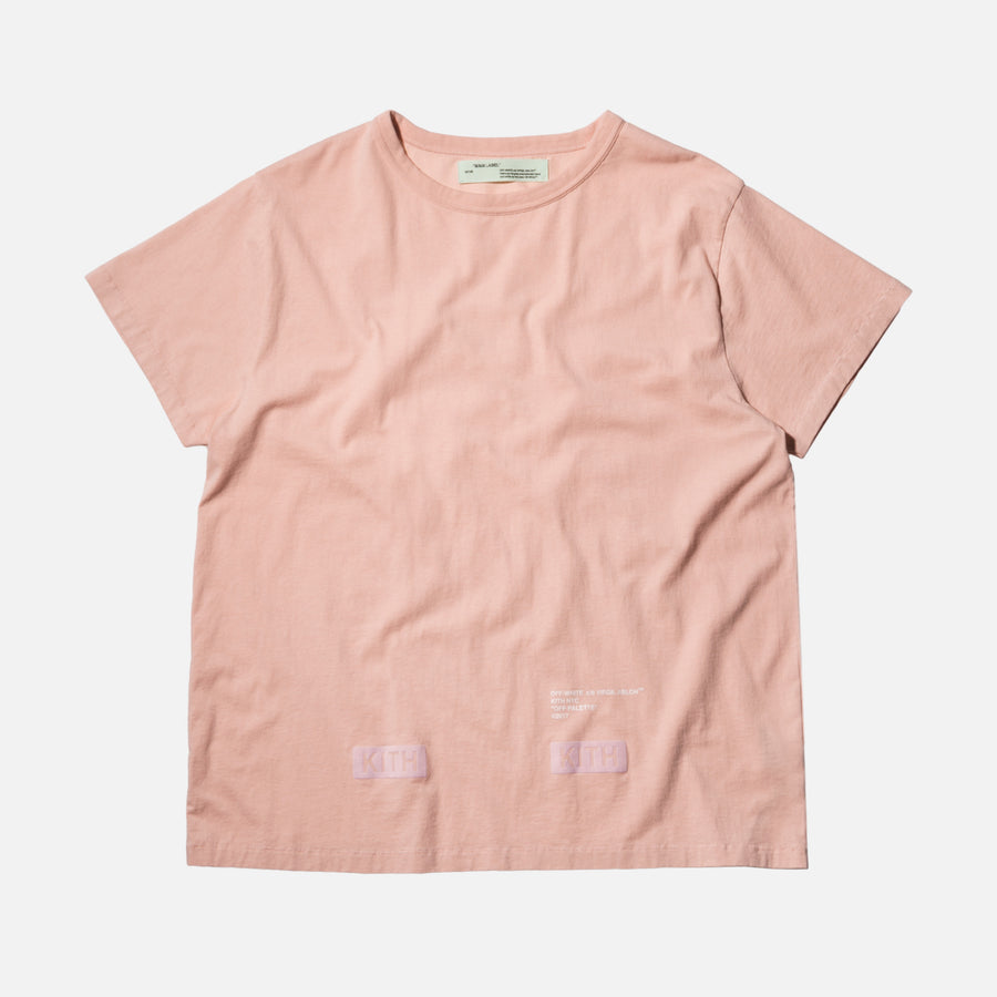 Kith x Off-White Flocked Tee - Soft Pink