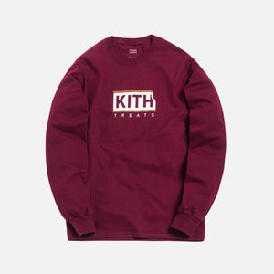 Kith Treats Ice Cream Sandwich L/S Tee - Maroon