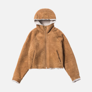 Kith Women x Ugg Shearling Hoodie - Chestnut Brown