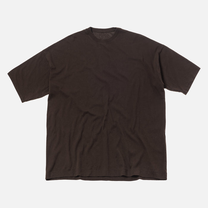 Unravel Project Motion Vin Jersey Boxy Tee - Dark Brown