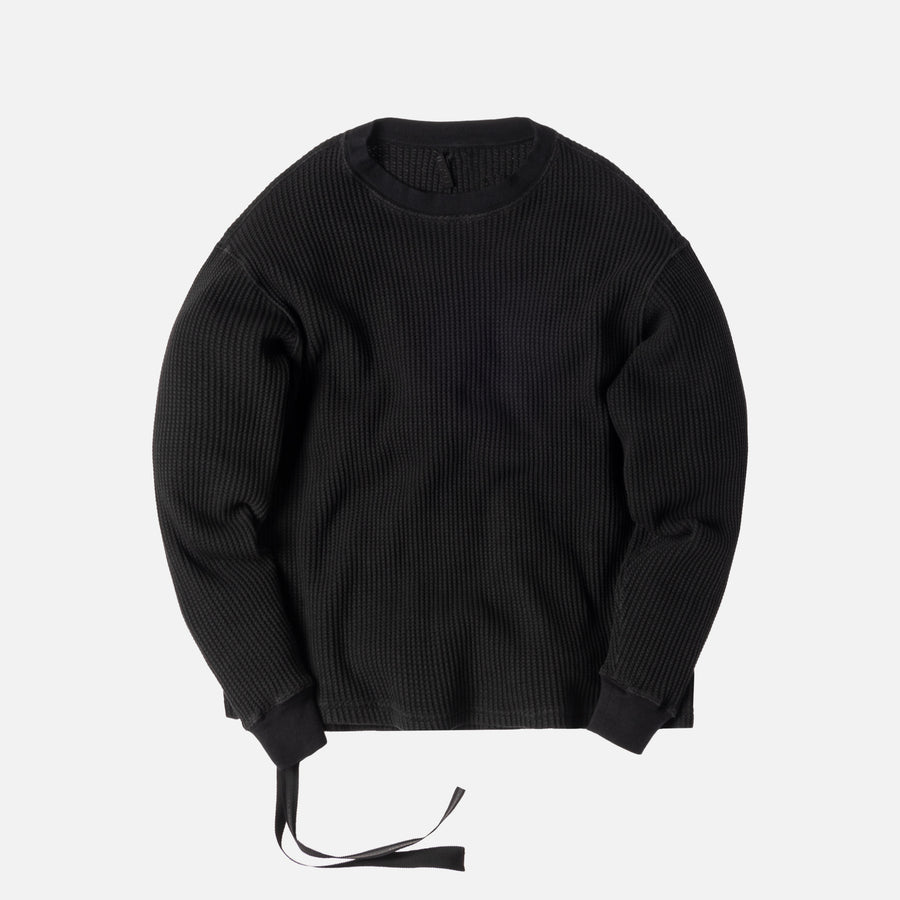Unravel Project Waffle L/S Skate Tee - Black