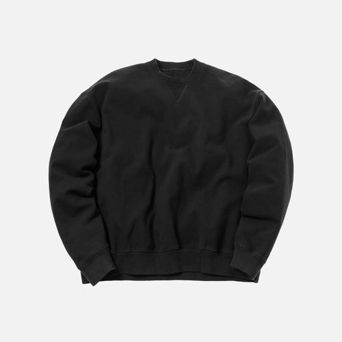 Unravel Project Stretch Terry Oversized Crewneck - Black