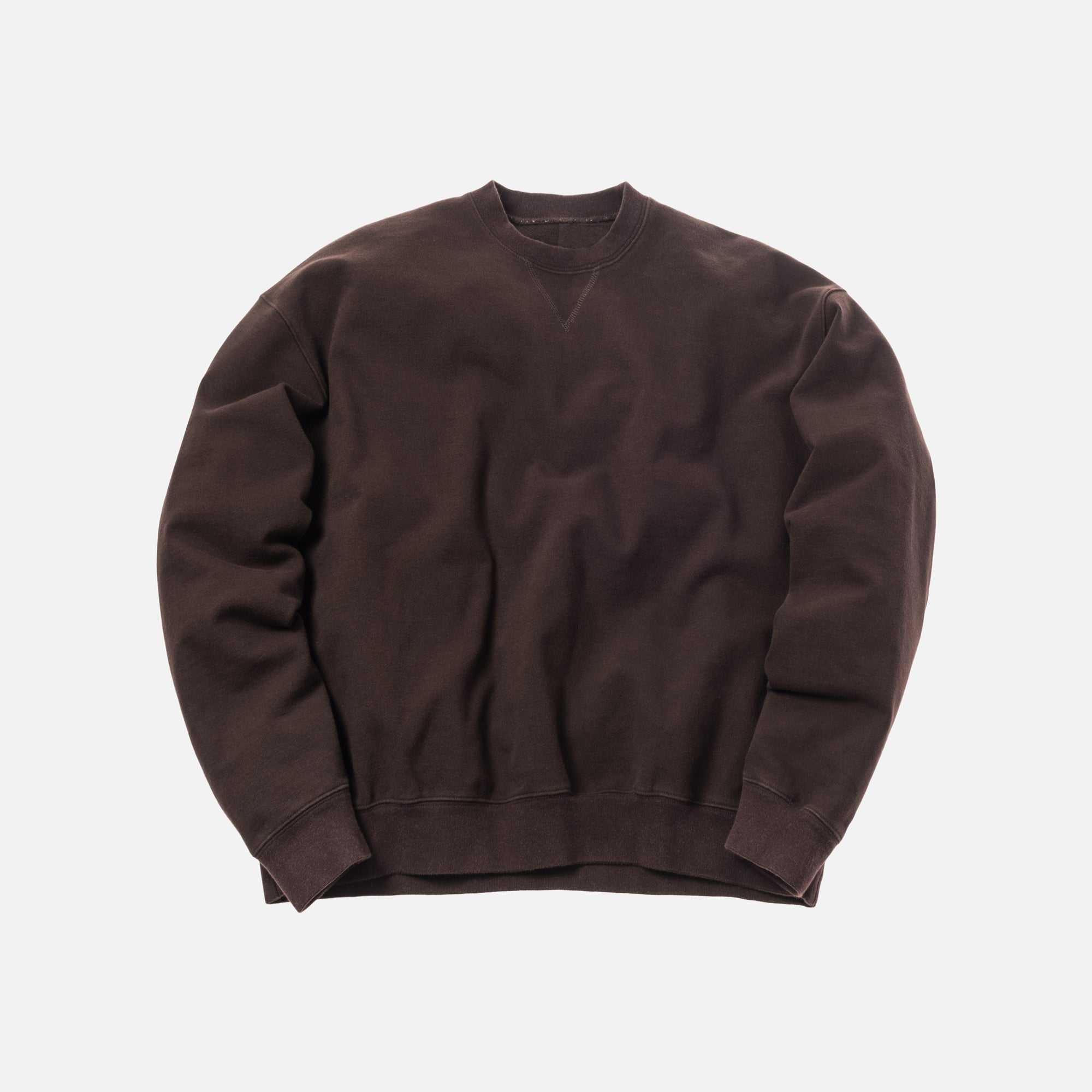 Unravel Project Stretch Terry Oversized Crewneck - Dark Brown