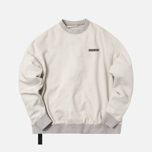 Unravel Project Motion Terry Oversized Crewneck - Beige