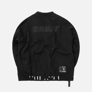 Unravel Project Motion Terry Oversized Crewneck - Black