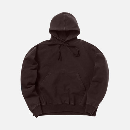 Unravel Project Stretch Terry Oversized Hoodie - Dark Brown