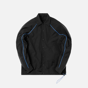 Unravel Project Nylon Drawstring Button Up - Black / Blue