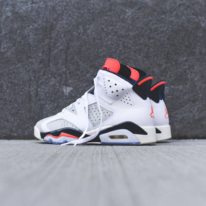 brand new c216b 37320 Nike PS Air Jordan 6 Retro - White / Infrared / Neutral Grey ...