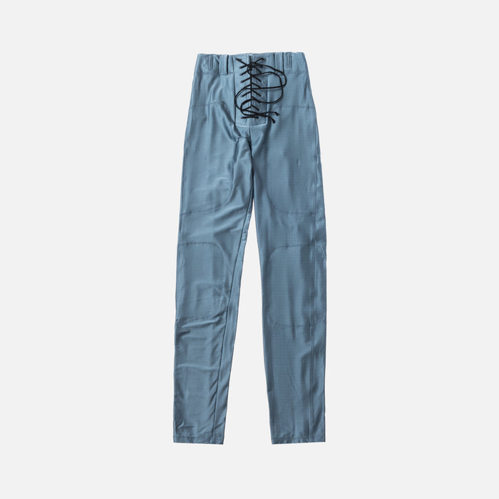 Unravel Project Viscose Lace-Up Foot Pants - Blue