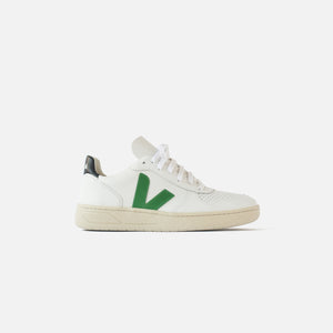 Veja V-10 - Extra White / Emeraude Black / Green