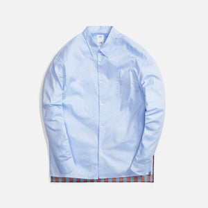 Visvim Chore Marcella L/S Stripes Shirt - Light Blue