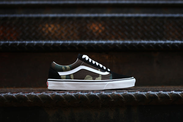Vans Old Skool - Black / Woodland Camo