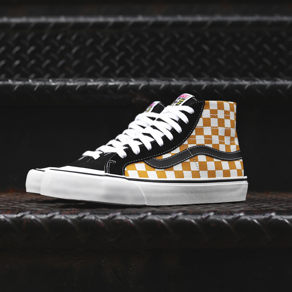 f63998e183 Vans Sk8-Hi 138 Decon SF - Black   Sunflower – Kith