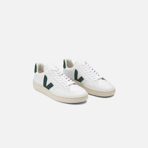 Veja V-12 Leather - Extra White / Cyprus