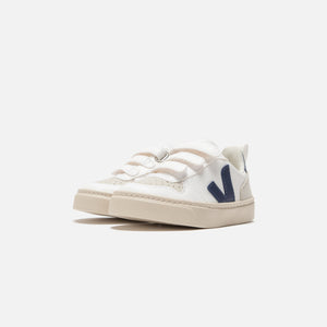Veja Toddler Small V-10 Velcro - White Cobalt