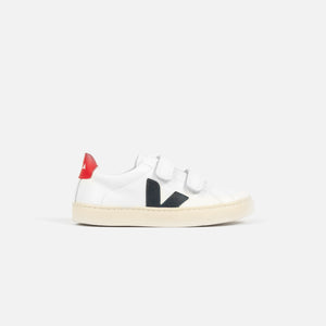 Veja Pre-School Esplar Small Velcro Leather - Extra White / Nautico Image 1