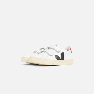 Veja Pre-School Esplar Small Velcro Leather - Extra White / Nautico