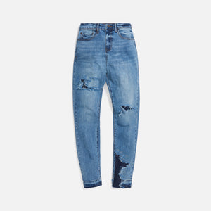 Val Kristopher Eroded Denim - Blue