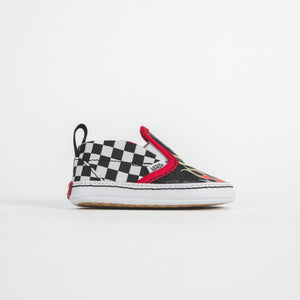 Vans Kids Slip-On Crib Race Flame - Black / True White