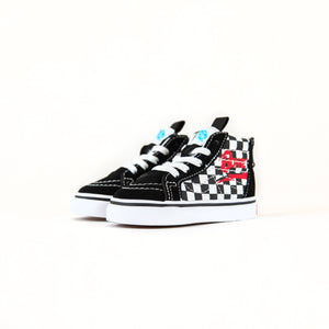 Vans x David Bowie Toddler Sk8-Hi Zip - Checkerboard