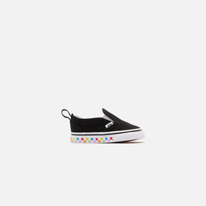 Vans Toddler Classic Slip-On Checkerboard - Rainbow / Black