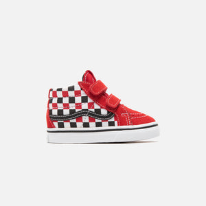 Vans SK8-Mid Reissue V Checkerboard - Black / Racing Red