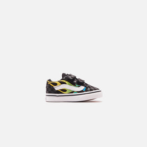 Vans Toddler Old Skool V Glow - Flame Black / True White