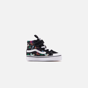 Vans Toddler Sk8-HI Reissue 138 V Surf Dinos - Black / True White Image 1
