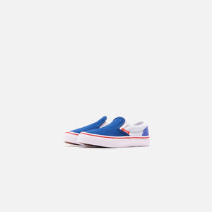 Vans Kids Classic Slip On Color Block - Baja Blue / High Risk Red