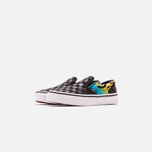 Vans Pre-School Classic Slip-On - Glow Flame Black / True White