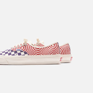 Vans OG Authentic LX - Logo Check / Indigo / Racing Red Image 4