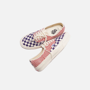 Vans OG Authentic LX - Logo Check / Indigo / Racing Red Image 2