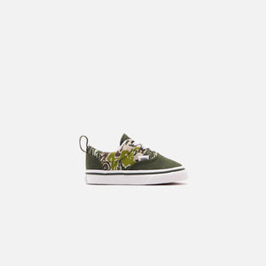 Vans Toddler Era Elastic Lace Camo Checkerboard - Kombu Green / True White