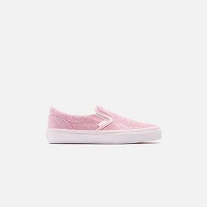 Vans Kids Classic Slip-On - Glitter Blushing Bride / True White