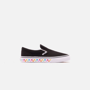 Vans Grade School Classic Slip-On Checkerboard - Rainbow / Black